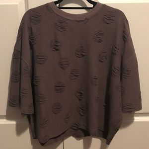 NWT distressed oversized sweater.